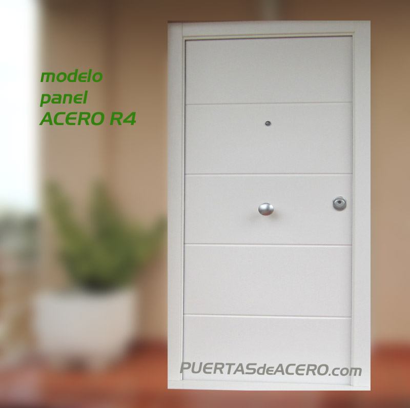Panel en acero acabado blanco mate satinado