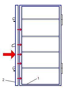 Estructura antigua de la puerta acorazada cortafuegos de clase 4