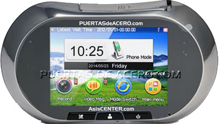 pantalla de visión de mirilla digital electrónica